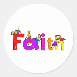 Faith Kids Round Sticker