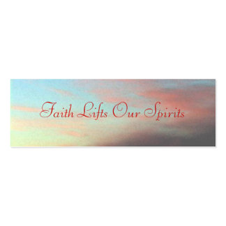 Faith Lifts Our Spirits Pack Of Skinny Business Cards