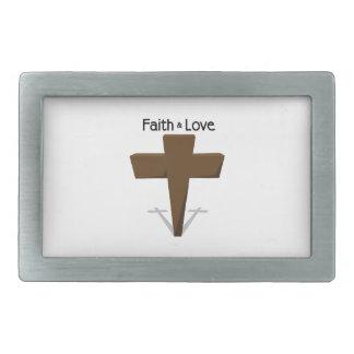 Faith & Love Rectangular Belt Buckles