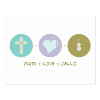 Faith Love Cello Postcard