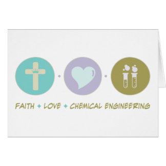Faith Love Chemical Engineering Card