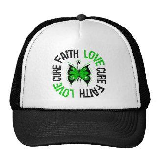 Faith Love Cure Butterfly Traumatic Brain Injury Trucker Hat