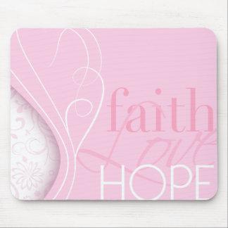 Faith Love Hope Mouse Pad