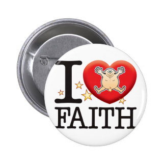 Faith Love Man 6 Cm Round Badge