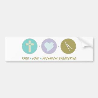Faith Love Mechanical Engineering Bumper Sticker