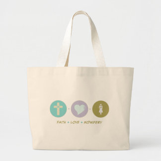Faith Love Midwifery Tote Bags