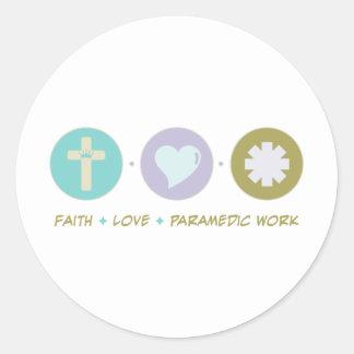 Faith Love Paramedic Work Stickers