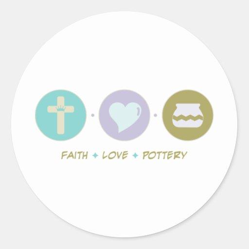 Faith Love Pottery Round Sticker