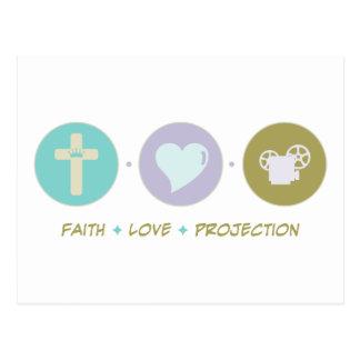 Faith Love Projection Postcard