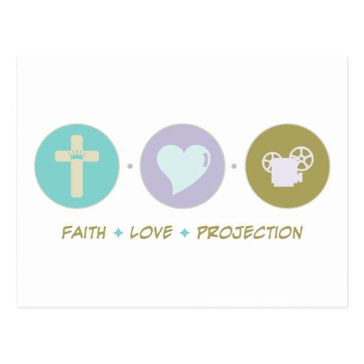 Faith Love Projection Post Card
