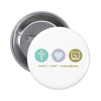 Faith Love Sonograms 6 Cm Round Badge