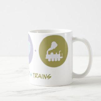 Faith Love Trains Coffee Mug