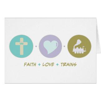 Faith Love Trains Greeting Card