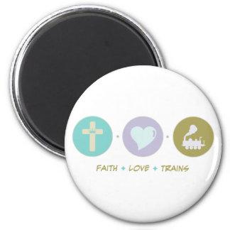 Faith Love Trains Refrigerator Magnets