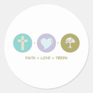 Faith Love Trees Round Sticker