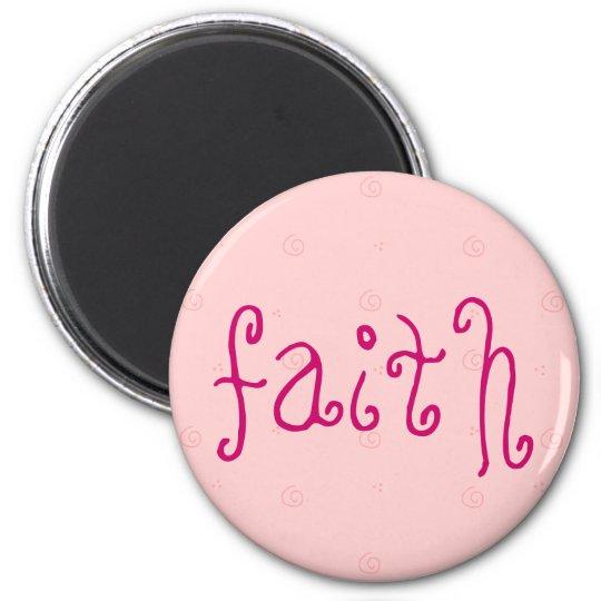 faith magnet with pink background