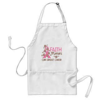 Faith Matters 3 Breast Cancer Adult Apron