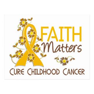 Faith Matters 3 Childhood Cancer Postcard