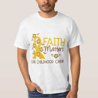 Faith Matters 3 Childhood Cancer T-Shirt