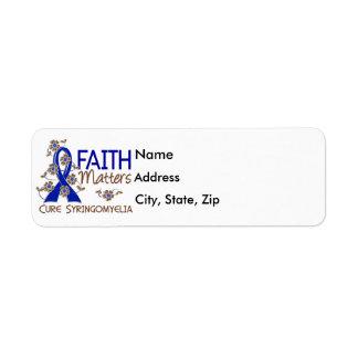 Faith Matters 3 Syringomyelia Return Address Label