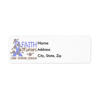 Faith Matters 3 Thyroid Disease Return Address Label