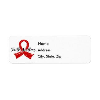 Faith Matters 5 Blood Cancer Return Address Label