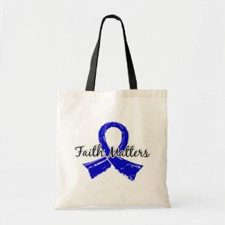 Faith Matters 5 Colon Cancer Budget Tote Bag
