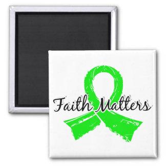 Faith Matters 5 Lymphoma (Non-Hodgkin's) Square Magnet