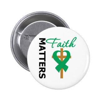Faith Matters Liver Cancer 6 Cm Round Badge