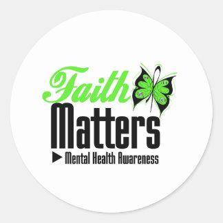 Faith Matters - Mental Health Awareness Stickers