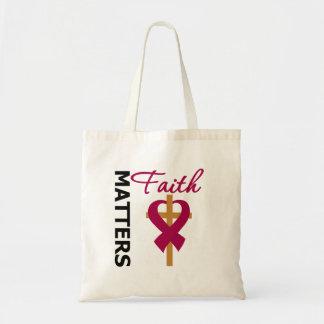 Faith Matters Multiple Myeloma Budget Tote Bag