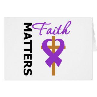 Faith Matters Pancreatic Cancer Greeting Card