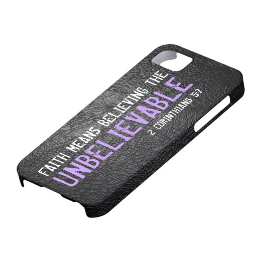 Faith means believing bible verse 2 Cor. 5:7 Case For The iPhone 5