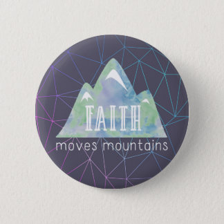 Faith Moves Mountains Purple Angles 6 Cm Round Badge
