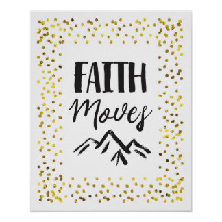 Faith Moves Mountains Wall Art