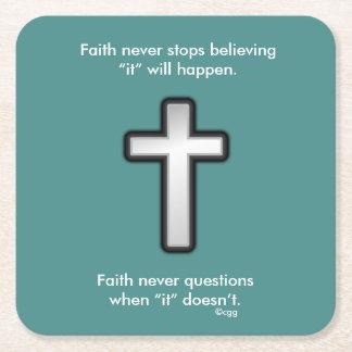 Faith Never Coasters w/Black Outline cross