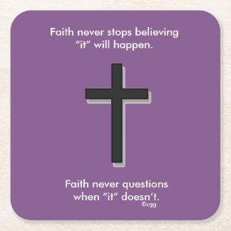 Faith Never Coasters w/Black Solid cross