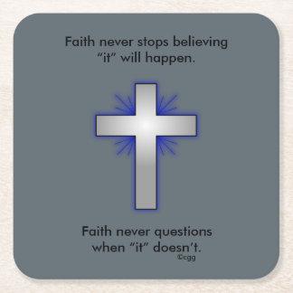 Faith Never Coasters w/Blue Flared cross