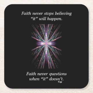 Faith Never Coasters w/Feather cross
