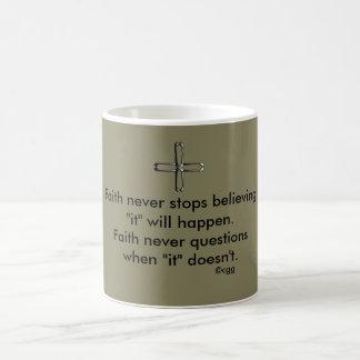 Faith Never Coffee Mug w/Steel Cross