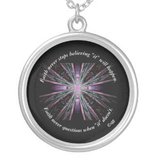 Faith Never Necklace w/Feather Cross