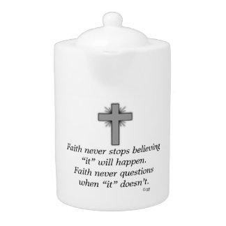 Faith Never Teapot w/Grey Flared Cross