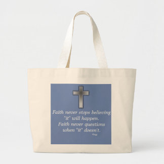 Faith Never Tote w/Blue Cross
