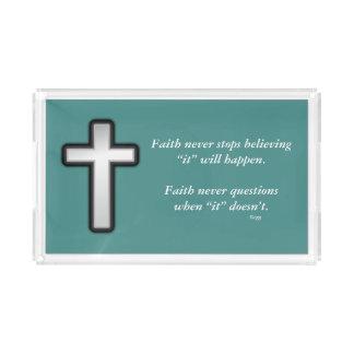 Faith Never Vanity Tray w/Black Outline Cross