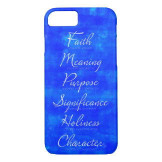 Faith Over Fear and Character over Comfort iPhone 8/7 Case