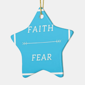 Faith Over Fear Holiday Ornament