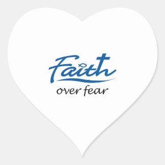 FAITH OVER FEAR HEART STICKER