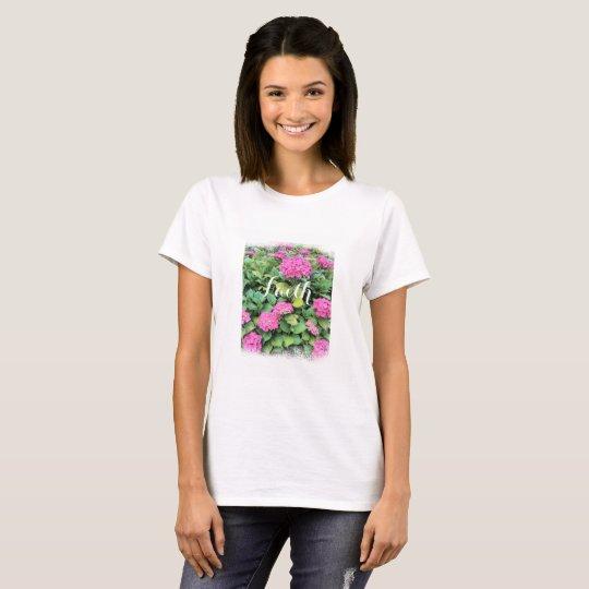 Faith Pink Floral Women's T-Shirt