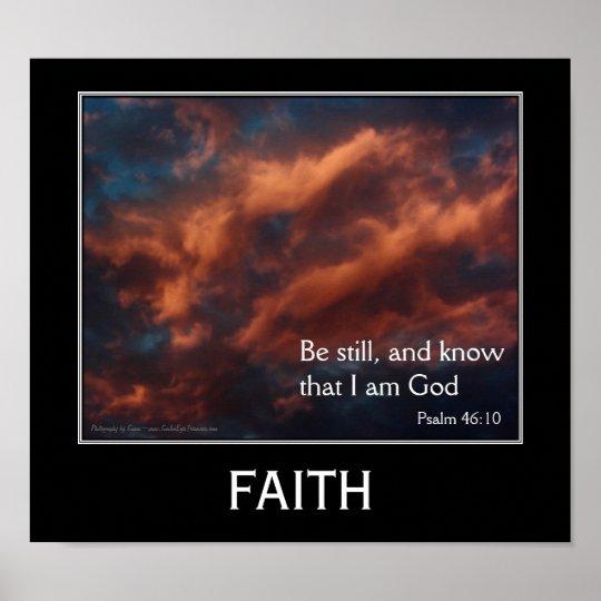 Faith Psalm 46:10 Inspirational Motivational Poste Poster
