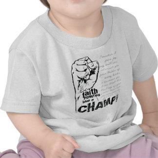 Faith Pumping Like a Champ Christian T Shirt